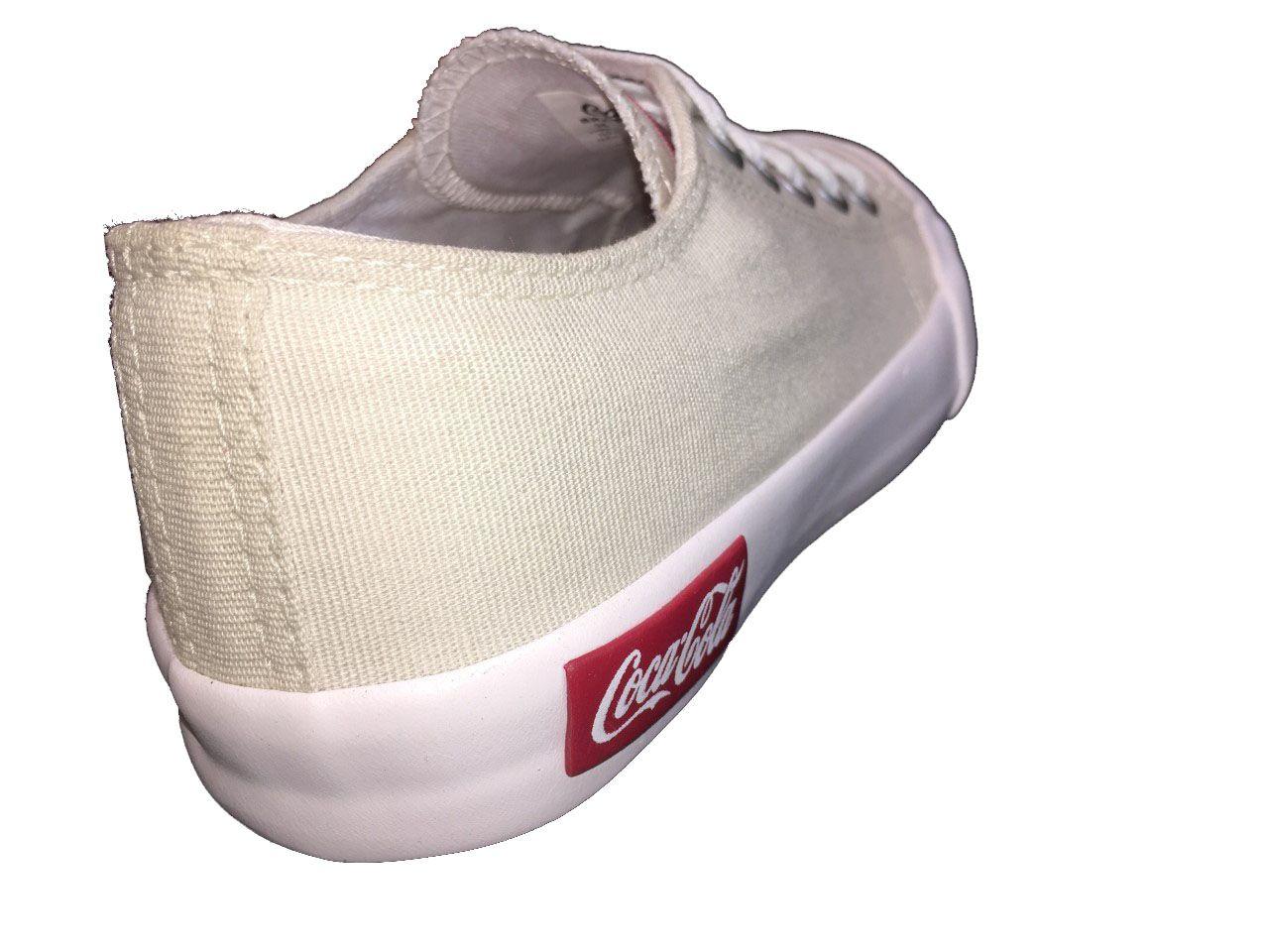Tênis Coca Cola Basket Resort Off White