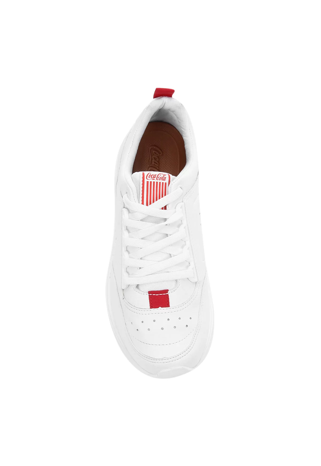 Tênis Coca Cola X58 Feminino Branco e Vermelho