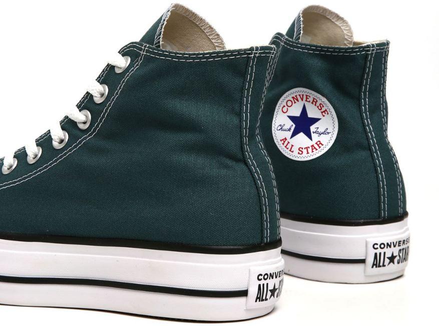 Tênis Converse All Star Cano Alto Flataforma  Verde escuro CT12000020