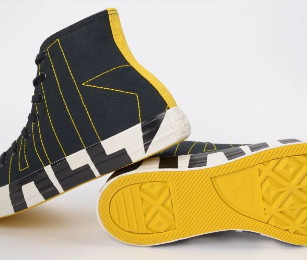 TÊNIS CONVERSE ALL STAR LOGO PLAY PRETO AMARELO VIVO CT13490001