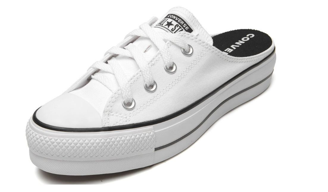 TÊNIS CONVERSE ALL STAR MULE PLATAFORMA BRANCO CT12100005