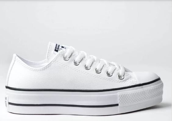 Tenis Converse All Star Platform Cano Baixo branco ct09830001