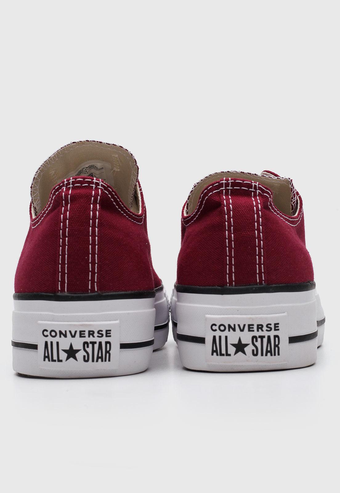 Tênis Converse Chuck Taylor All Star Platform Ox Bordo CT04950004