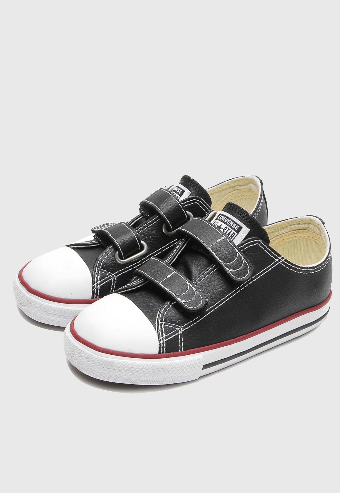 Tênis Converse Couro All Star 2v Kids Preto Ck04180003