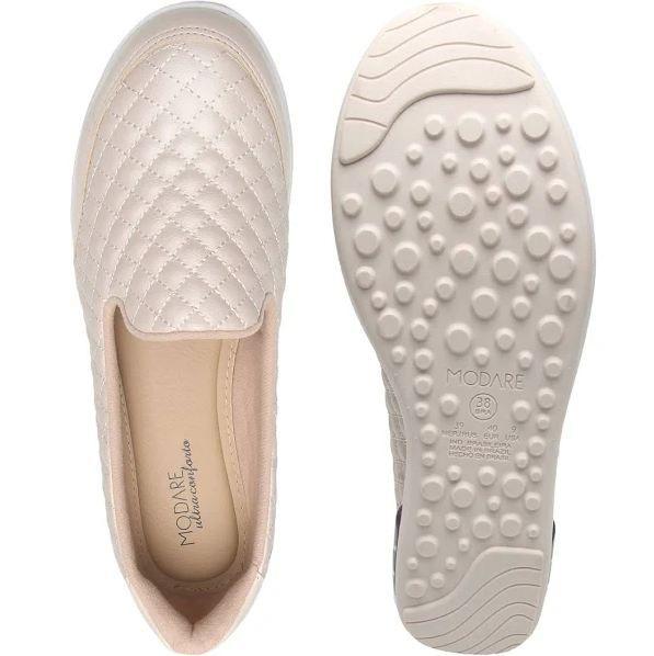 Tênis Feminino Casual Modare Ultraconfort Slipon 7320 -creme