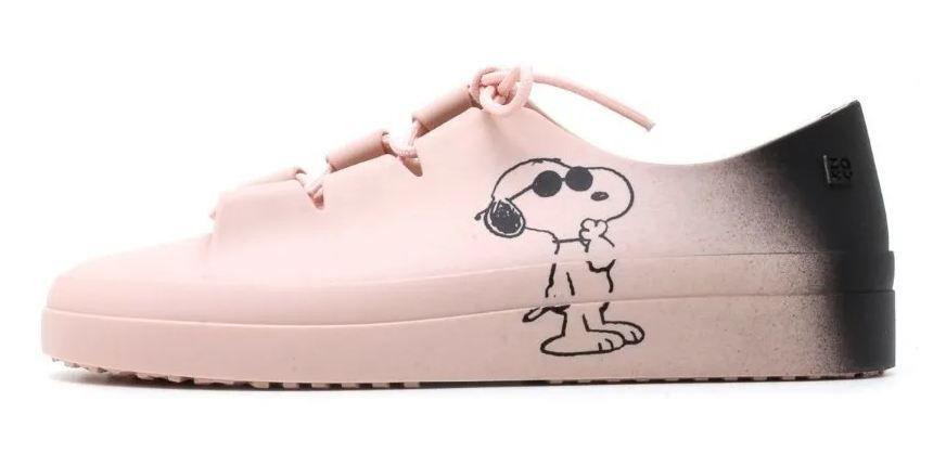 Tênis Feminino Zaxy Snoopy Rosa Nude