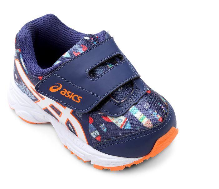 Tênis Infantil Asics Sugar Baby 3 TS Running - Azul e Branco