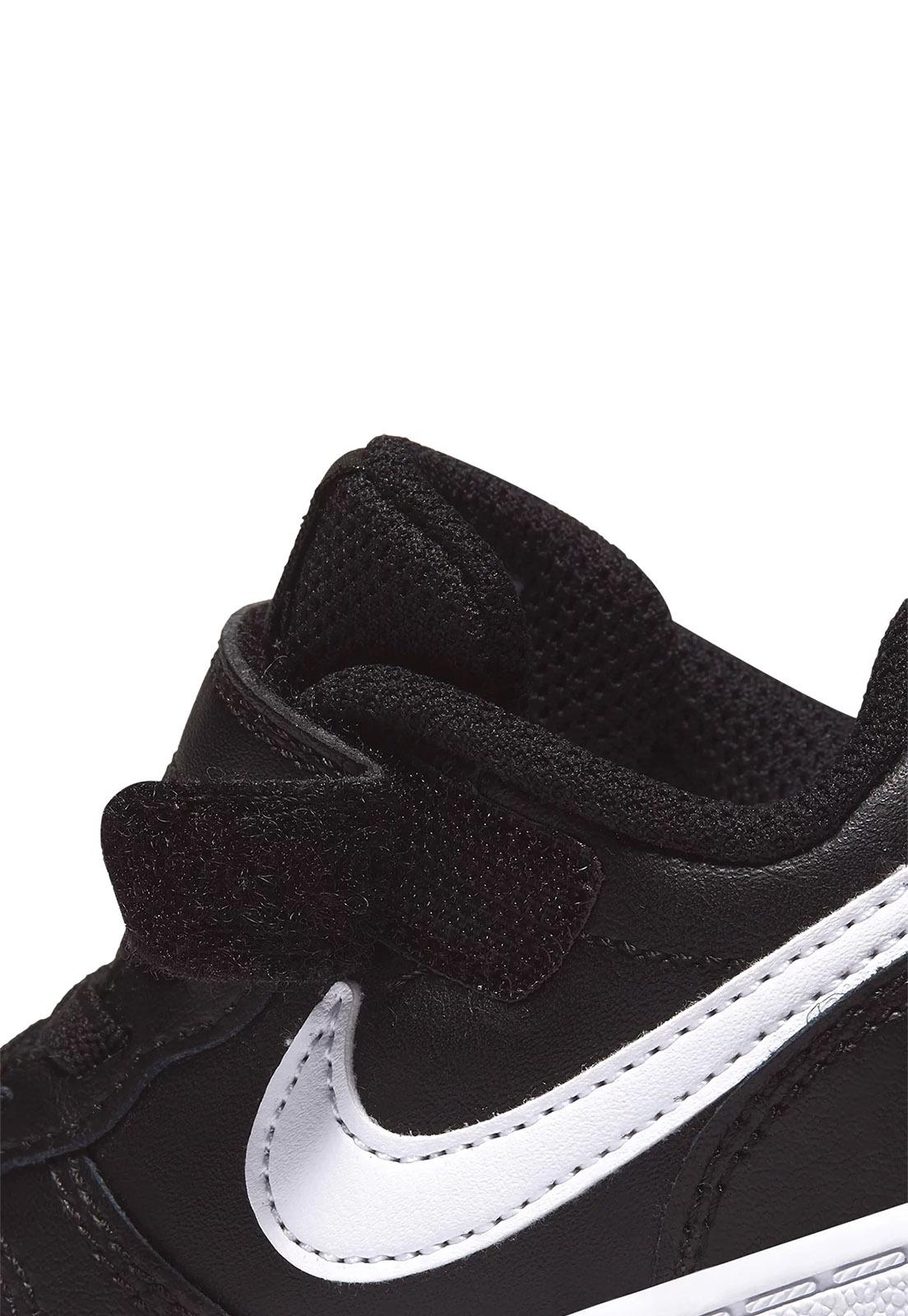Tênis Infantil Nike Court Borough Low 2 TDV - Preto+Branco