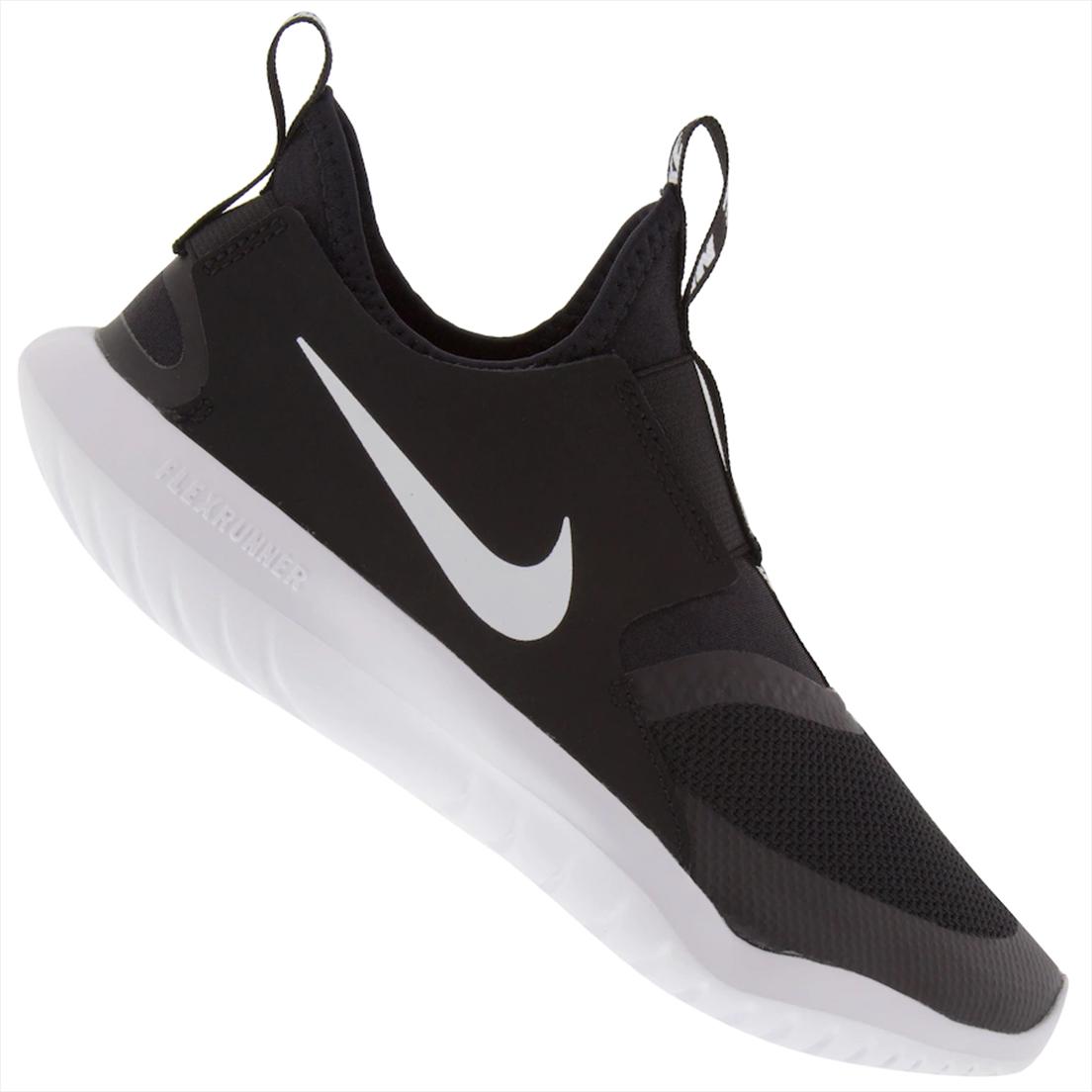 Tênis Infantil Nike Flex Runner PS - Preto+Branco