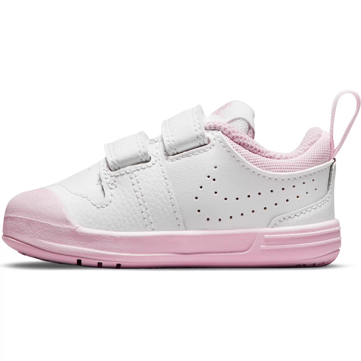 Tênis Infantil Nike Pico 5 - Branco-Rosa