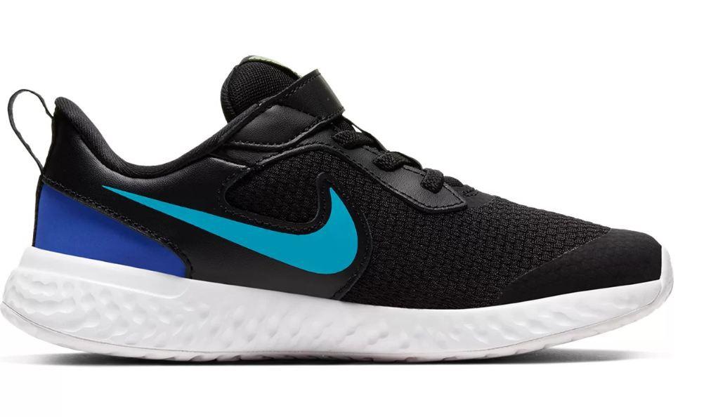 Tênis Infantil Nike Revolution 5 Psv - Preto e Azul Turquesa
