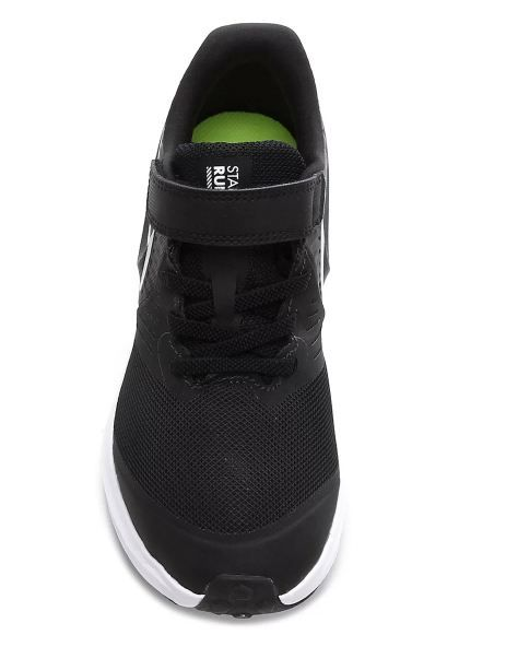 Tênis Infantil Nike Star Runner 2 Psv  Preto e Branco