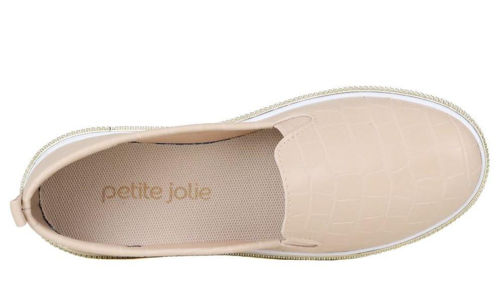 Tênis Lupita Petite Jolie Croco Nude PJ1546II