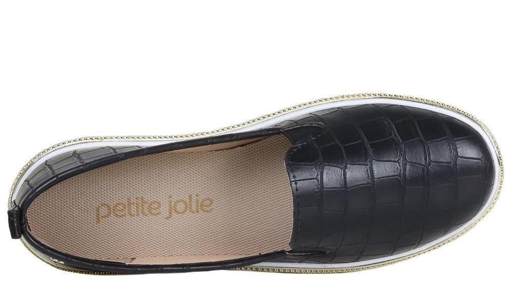 Tênis Lupita Petite Jolie Croco Preto PJ1546 II