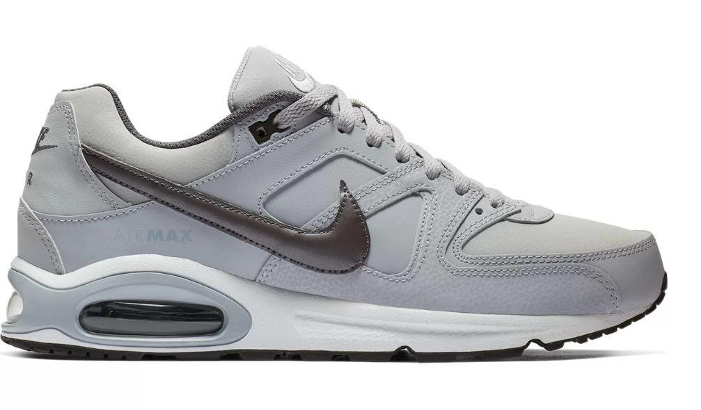 Tênis Nike Air Max Command Leather Cinza e Preto