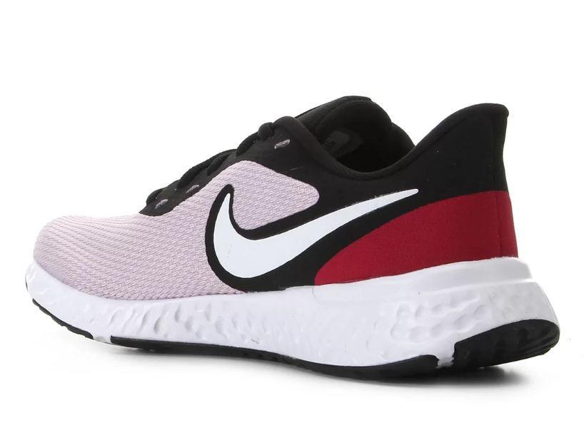 Tênis Nike Revolution 5 Rosa-Preto-Vermelho