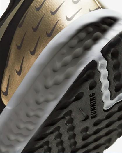 Tênis Nike Revolution 5 Premiun Preto Dourado