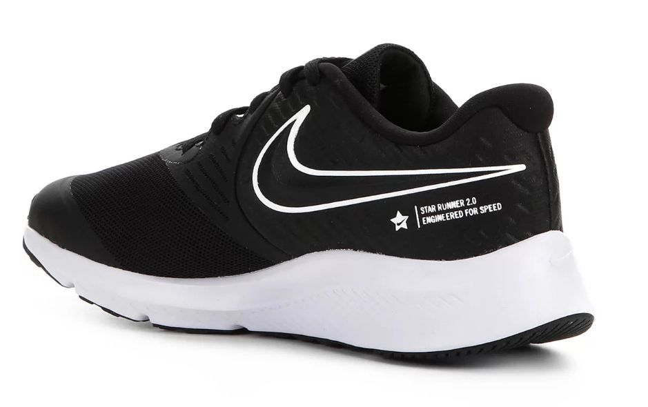 Tênis Nike Star Runner 2 Gs - Preto e Branco