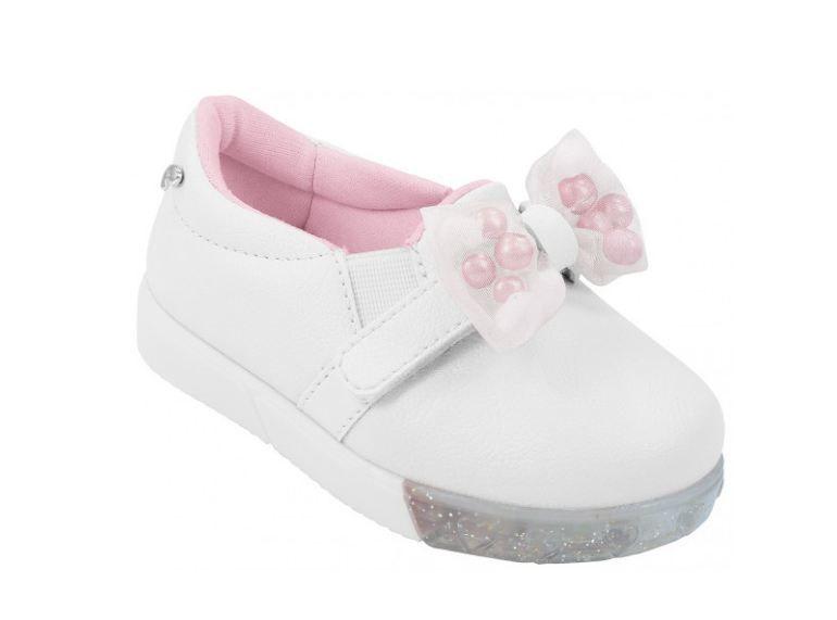 Tênis Pampili Infantil Baby Fun Branco