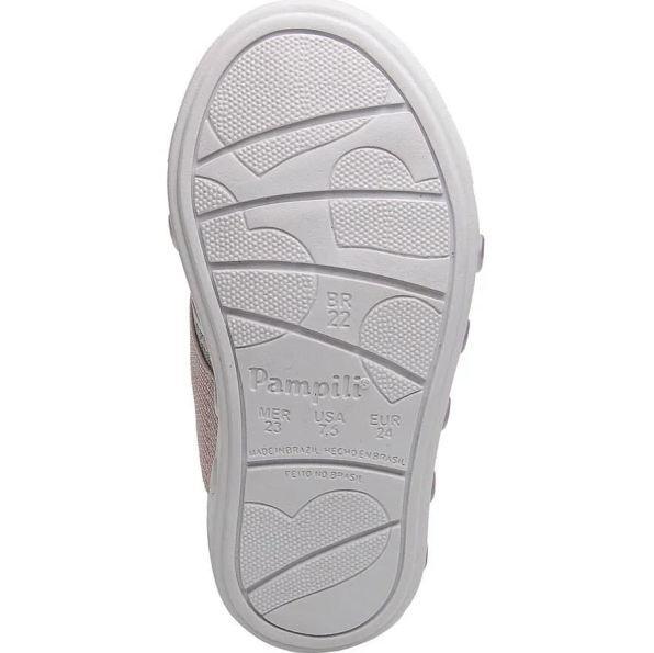 Tênis Pampili led Menina Sneaker Luz Cinza
