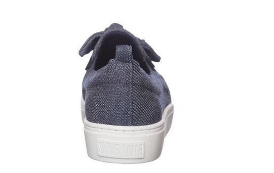 Tênis Santa Lolla slip on jeans azul imperial
