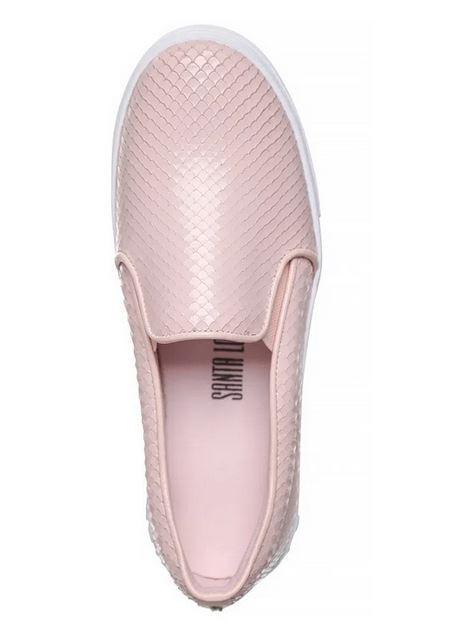 Tênis Santa Lolla slip on texturizado rosa