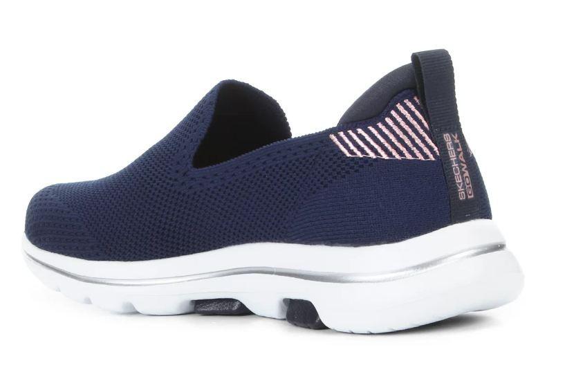 Tênis Skechers Go Walk 5 Prized Azul Escuro