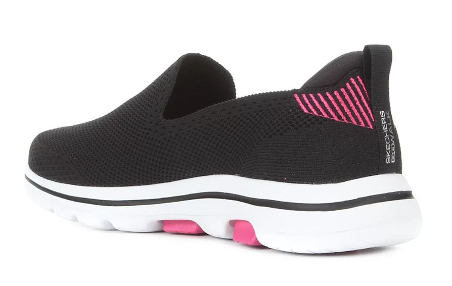 Tênis Skechers Go Walk 5 Prized Feminino - Preto e Rosa