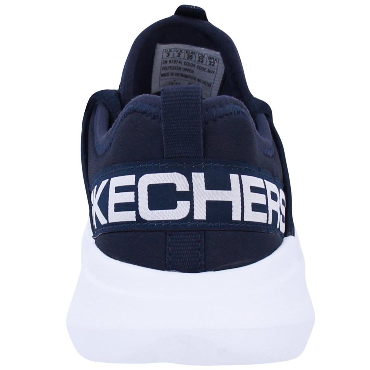 Tênis Skechers Infantil Go Run Fast Valor - Azul e Branco