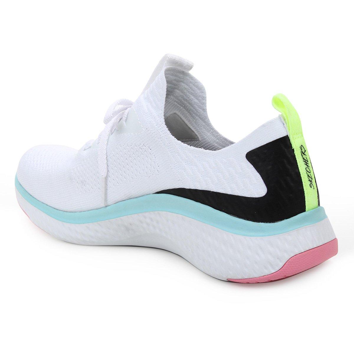 Tênis Skechers Solar Fuse Feminino - Branco e Azul