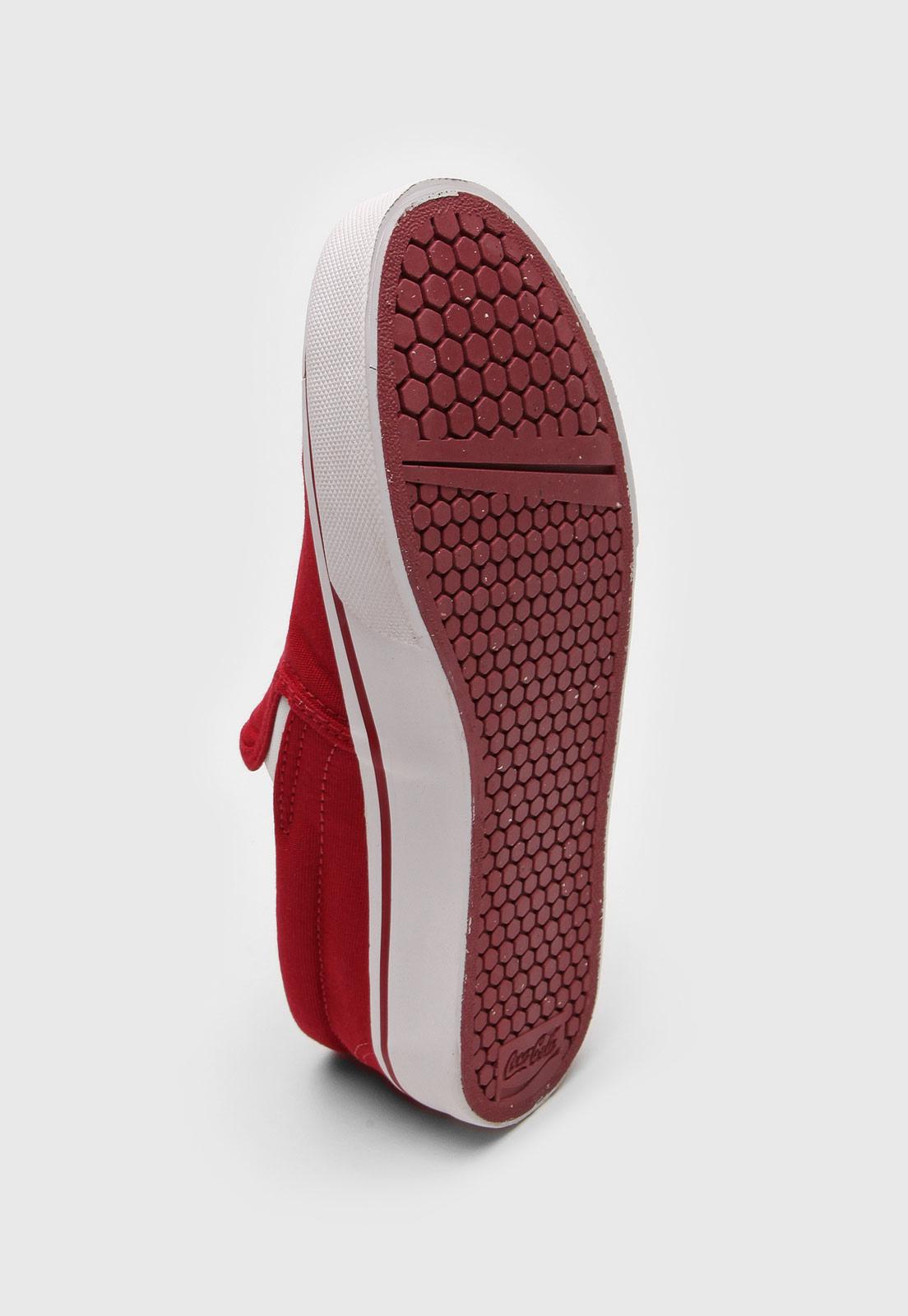 Tênis Slip On Coca Cola Shoes Iate Blend CC1781 Vermelho