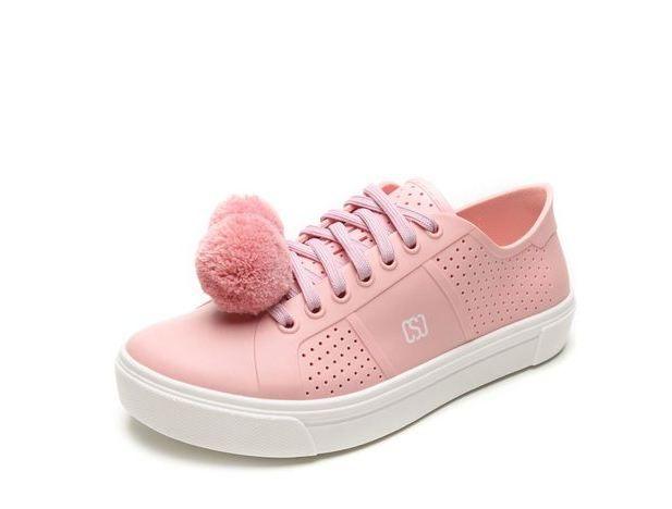 Tênis Sweet Chic Pompom Rosa