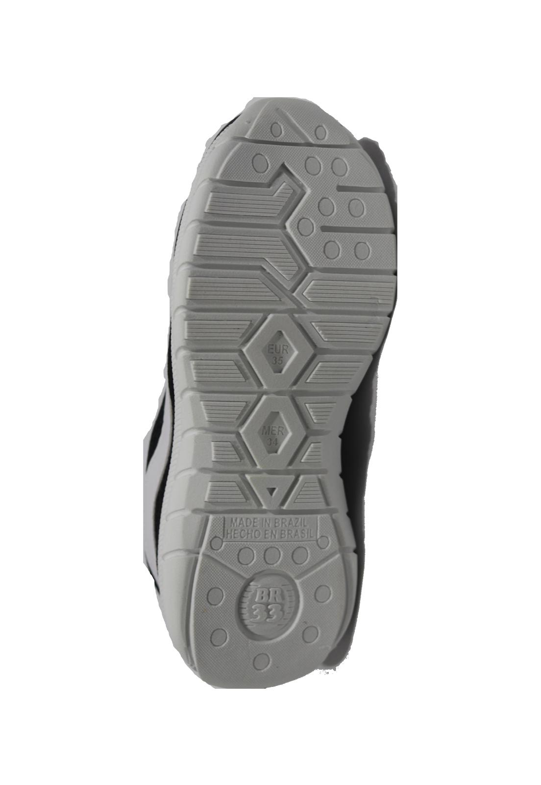 Tênis Tok Pé preto com cadarço elástico
