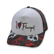 Boné Aba Curva TKN Trucker I Love Floripa