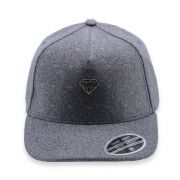 Boné Aba Curva Young Money Snapback Diamante Cinza