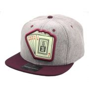 Boné Aba Reta Young Money Snapback Cartas Bordô