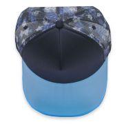 Boné Trucker Aba Curva OverHead Acrílico Floral Azul