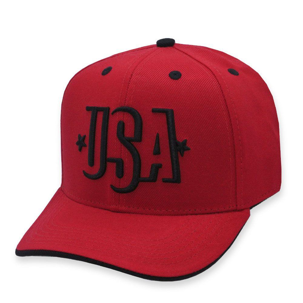 Boné Aba Curva Black Bulls USA