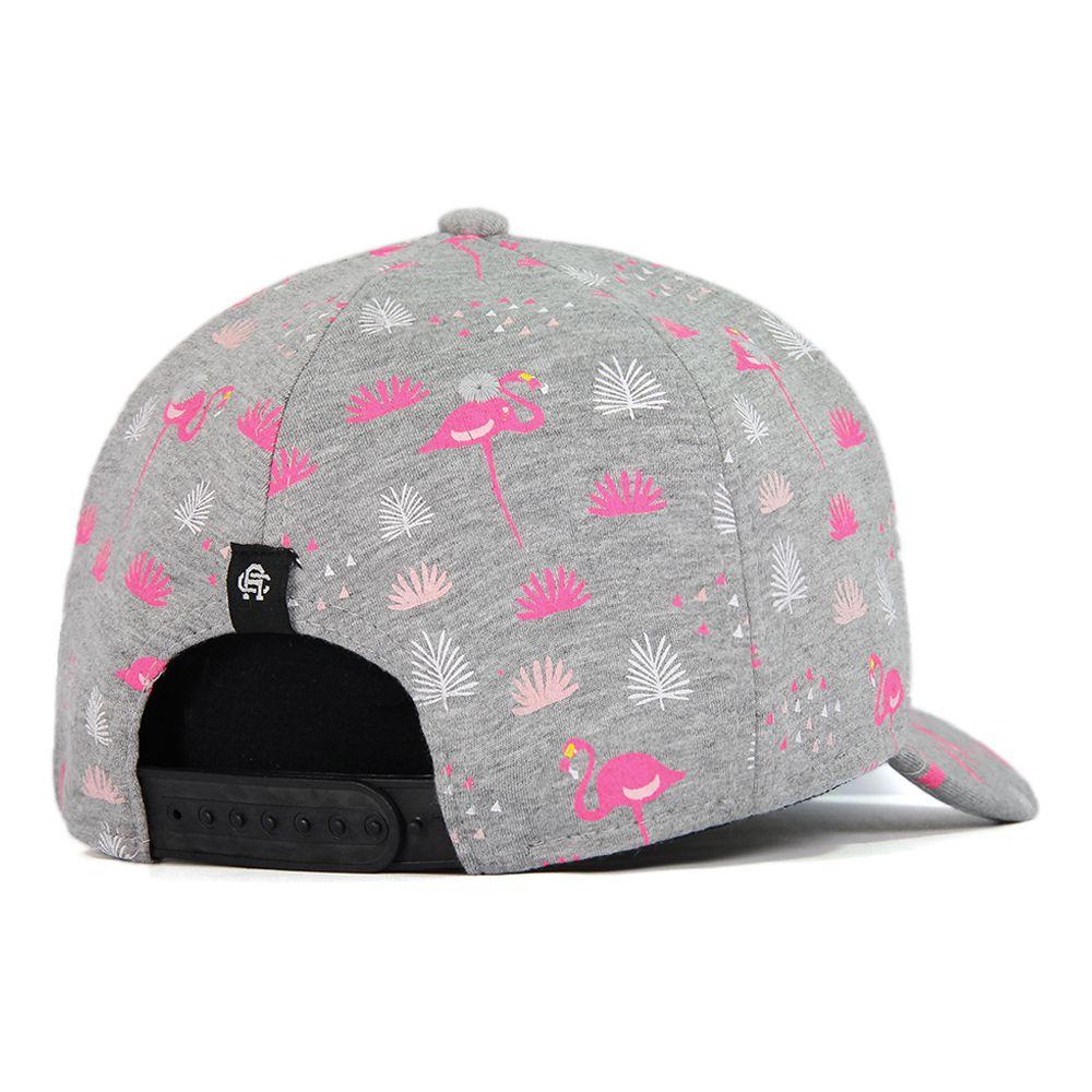 Boné Aba Curva Snapback Anth Co JHW Flamingo Cinza