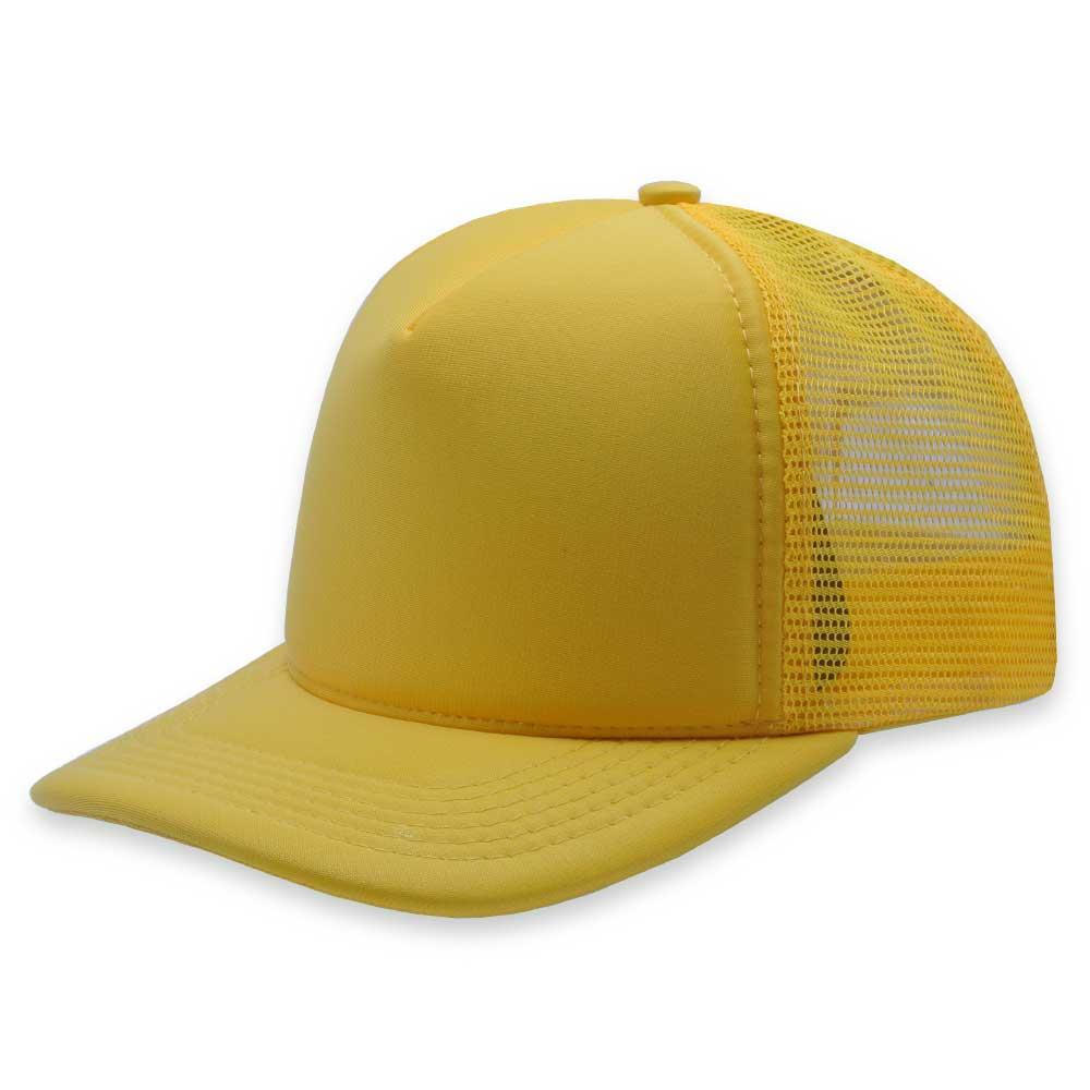 Boné Aba Curva TKN Trucker Amarelo Liso