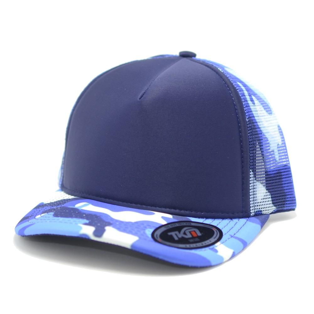 Boné Aba Curva TKN Trucker Azul Camuflado