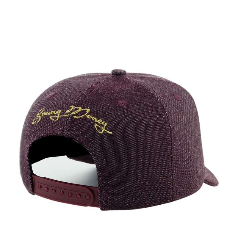 Boné Aba Curva Young Money Snapback Coroa Bordô