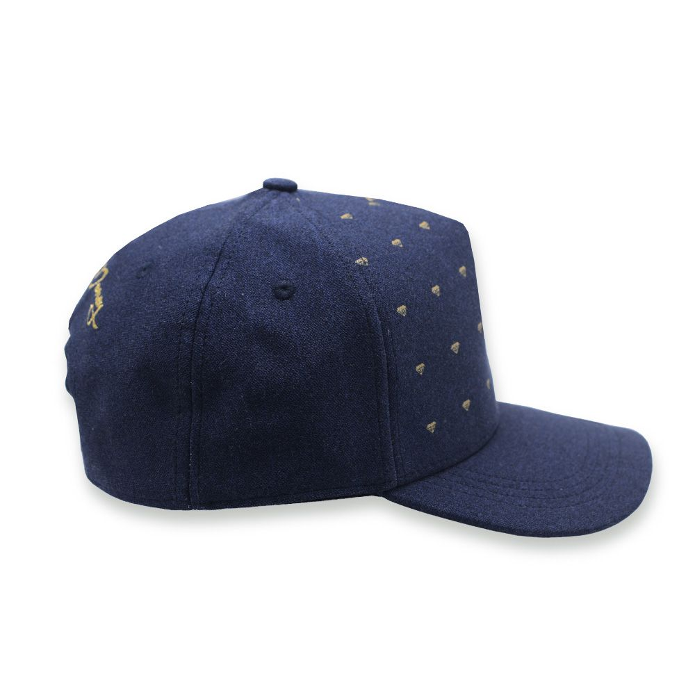 Boné Aba Curva Young Money Snapback Diamante Azul Jeans