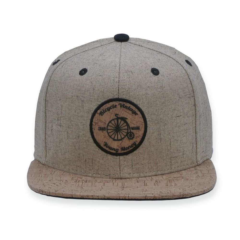 Boné Aba Reta Young Money Snapback Bicycle Vintage Bege 7ca4f66632c