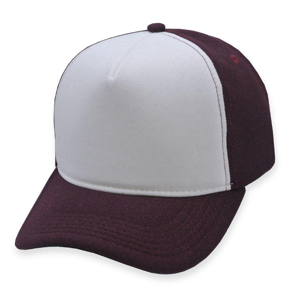 Boné Snapback Aba Curva Classic Hats Branco e Bordô