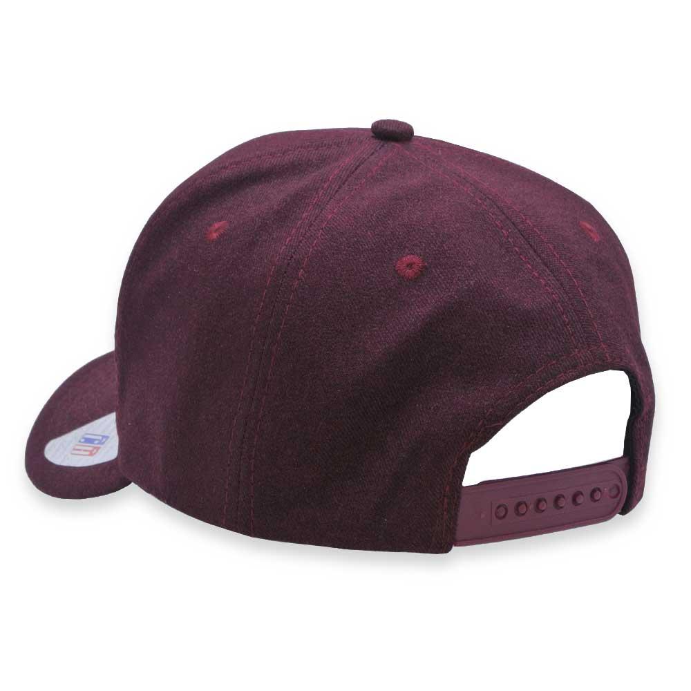 Boné Snapback Aba Curva Classic Hats Bordô Liso