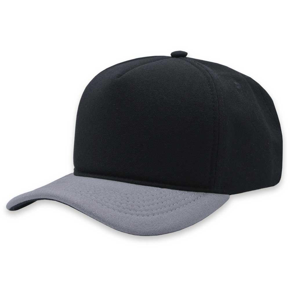 Boné Snapback Aba Curva Classic Hats Preto e Cinza