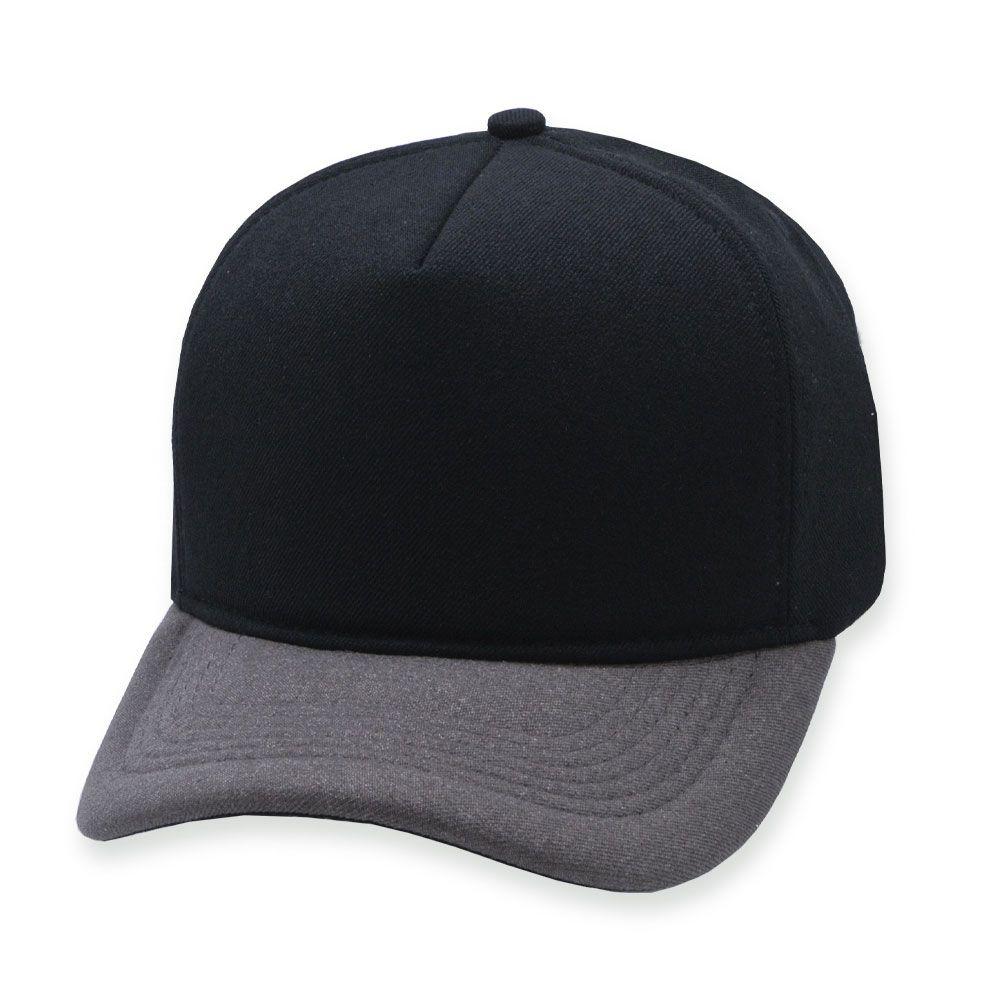 Boné Snapback Aba Curva Classic Hats Preto e Mescla Terra