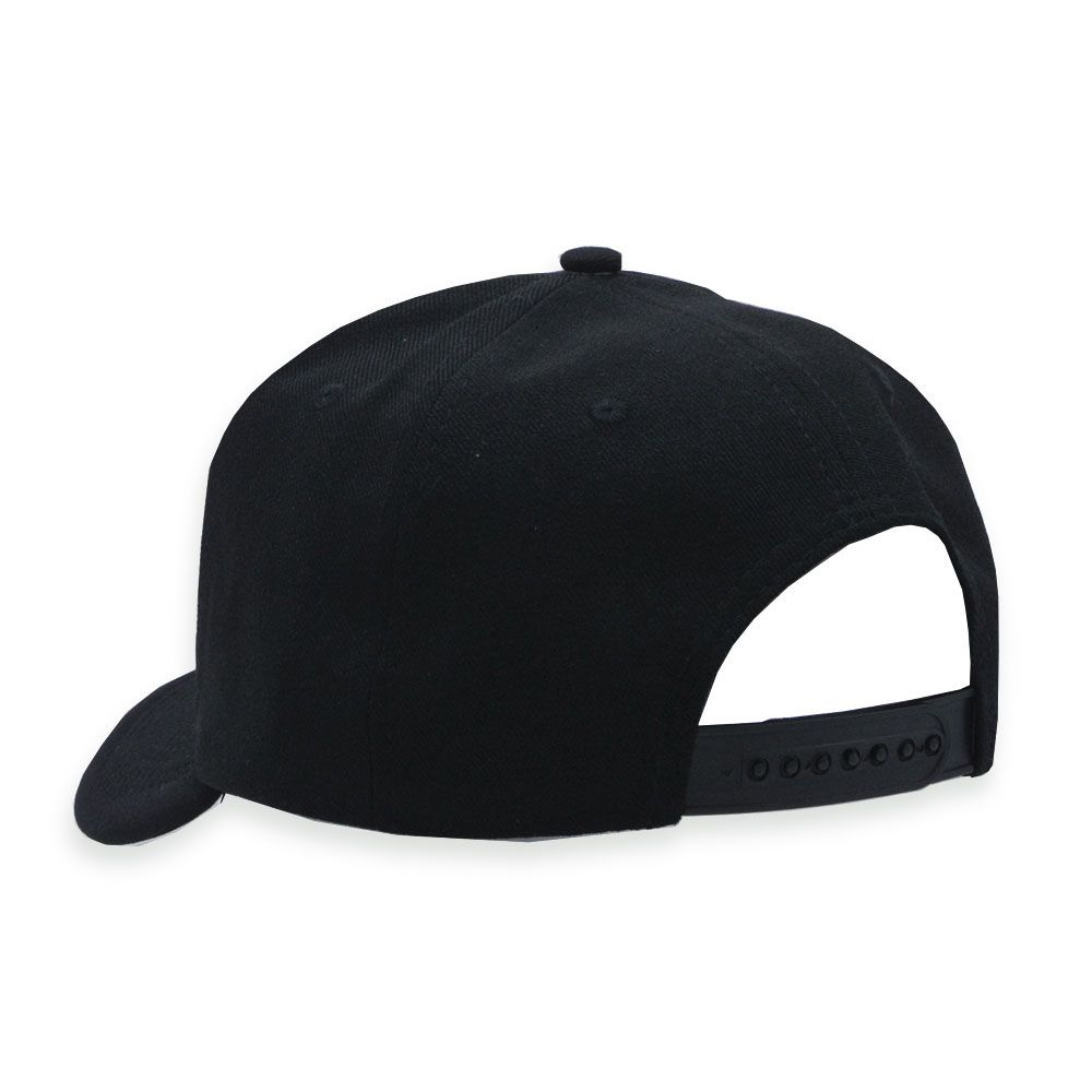 Boné Snapback Aba Curva Classic Hats Preto Liso