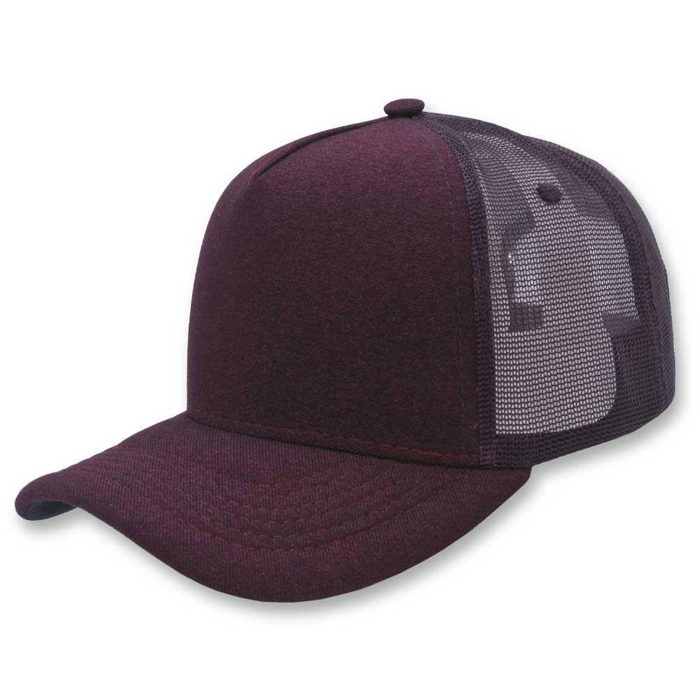 Boné Trucker Aba Curva Classic Hats Bordô Liso